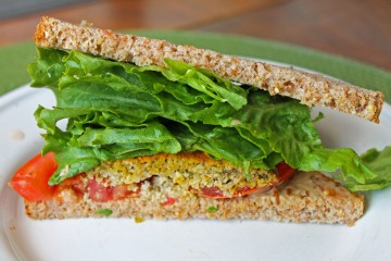 Sunflower Seed Falafel Sandwich